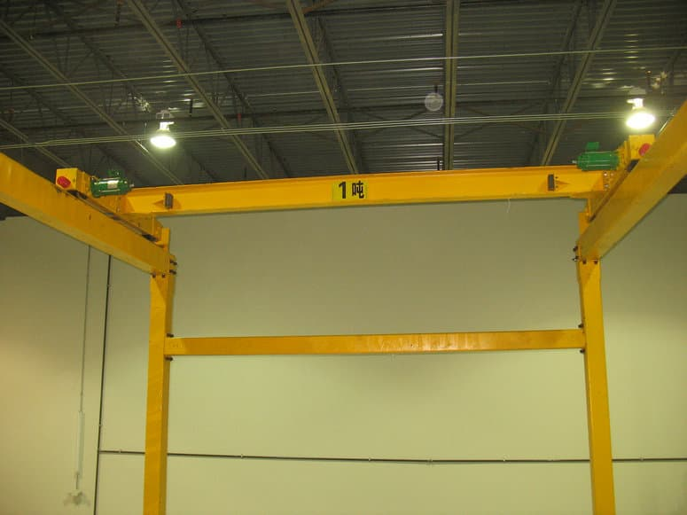 t single girder overhead crane installation and commissioning