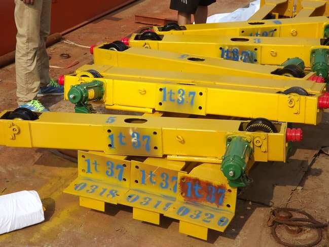 LD model single girder overhead traveling crane with whole steel support structure