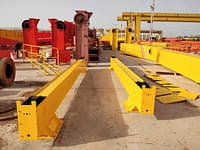 Single girder gantry crane export to Peru scaled